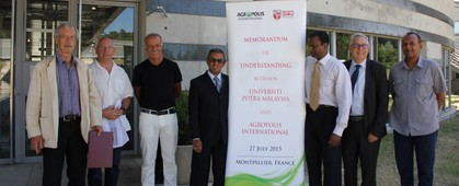 Creation of a European Labex UPM, a Virtual Laboratory of Universiti Putra Malaysia, in Montpellier, at Agropolis International