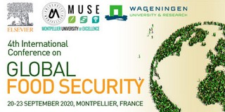 Registration now open for the 4th International Conference on Global Food Security Achieving local and global food security: at what costs?, 15-18/06/2020, Montpellier