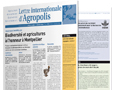 Agropolis International Newsletter